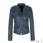 oui 100%小羊皮夾克皮衣(藍)