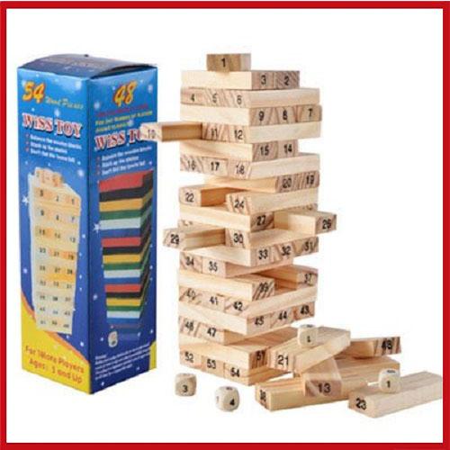 小號積木疊疊樂 創意益智桌遊盒玩 (送4顆骰子)(快速出貨)【AE09037】99愛買小舖