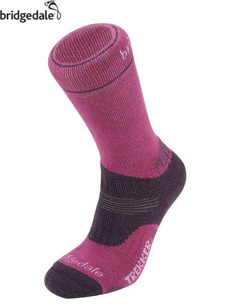 Bridgedale 英國 TK健行者 羊毛中厚-抗菌女 L 莓紅 655 登山襪子 健行襪 排汗襪 保暖襪 [易遨遊]