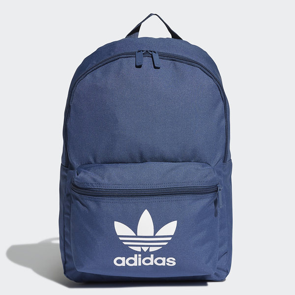 ADIDAS ORIGINALS 深藍 前小口袋 基本款 運動 書包 後背包 (布魯克林) FL9655