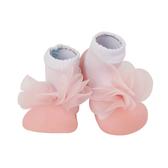BabyPark 韓國BigToes幼兒襪型學步鞋-浪漫粉紗 襪鞋 韓國製造,三種尺寸可選擇