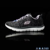 【輕量】SKECHERS  女休閒慢跑鞋 輕量高彈性舒適好穿 適久走久站 黑灰色鞋面  【1525】