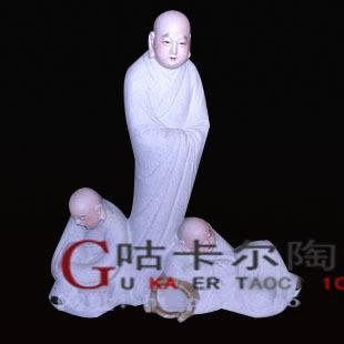 景德鎮 陶瓷器 (許和尚師徒參禪)