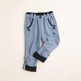 【金安德森】KA褲管反折釦造型口袋長褲