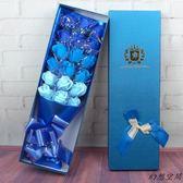 七夕情人節禮物 交換禮物 情人節禮品11朵18朵香皂花束禮盒送朋友老師同學閨蜜生日創意禮物