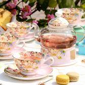 花茶壺套裝 玻璃煮水果茶壺陶瓷下午茶花果茶杯茶具家用蠟燭加熱WY