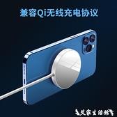 適用于iphone12磁吸無線充電器magsafe蘋果12磁吸式12promax手機專用磁鐵配件mini無限1 艾家