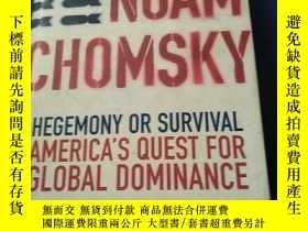 二手書博民逛書店Hegemony罕見or Survival? Americas