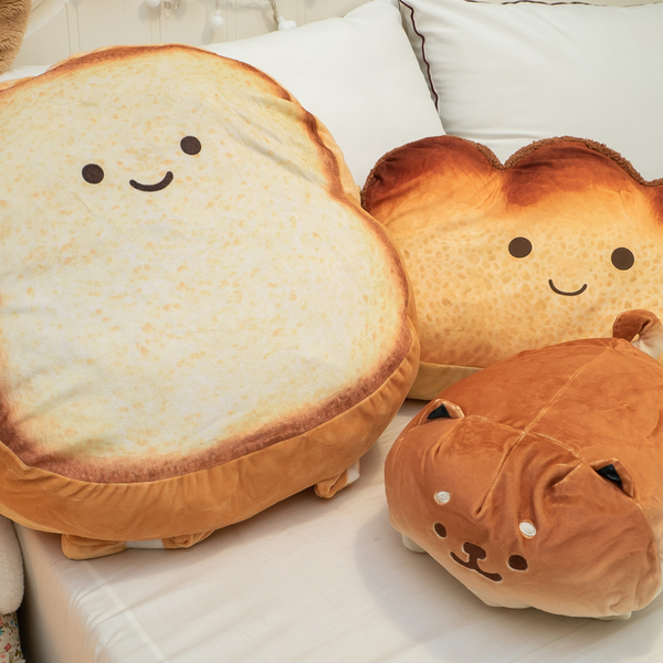 麵包家族抱枕-麵包狗狗 可愛療癒 棉床本舖