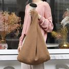 針織包 素色 編織 針織袋 簡約 背心包 休閒 側肩包 手提包--手提/單肩【ALSR10027】 BOBI  10/10