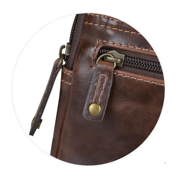 TROOP 英國 經典新風格FAUX LEATHER斜背包 亮面皮革 深咖啡色/ TLL010DB