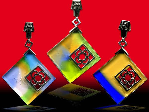 鹿港窯~開運古法水晶琉璃銀飾項鍊~窗外◆ 附精美包裝◆免運費送到家
