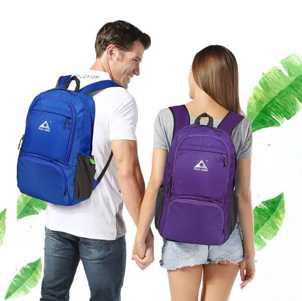 登山背包 皮膚包超輕便攜可折疊旅行雙肩背包女戶外兒童旅游防水運動【快速出貨八折優惠】