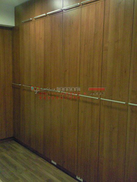 歐雅系統家具 系統櫃 L型淺胡桃衣櫃 B0023