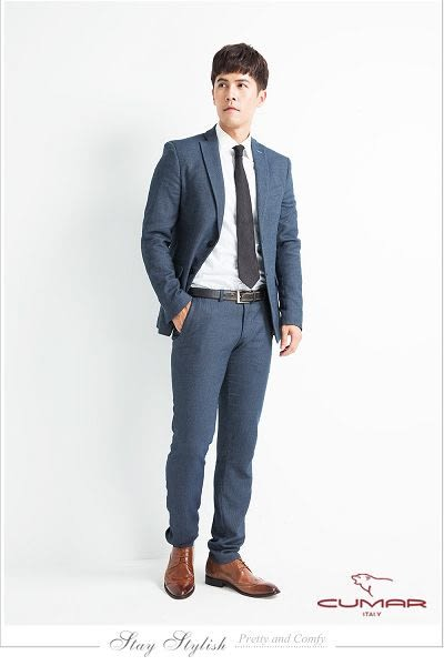 CUMAR英倫紳士 經典紳士皮鞋-咖