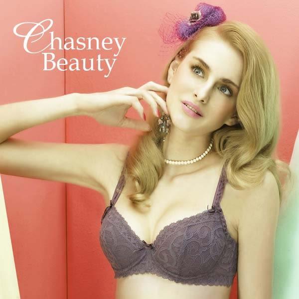 Chasney Beauty-Twist麻辮S-L蕾絲三角褲(深紫芋)