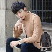 『潮段班』【HJ0FY103】韓版立領毛尼加厚軍裝外套 夾克 風衣 5色