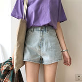 短褲女潮夏季正韓簡約高腰顯瘦牛仔褲學生百搭闊腿褲熱褲