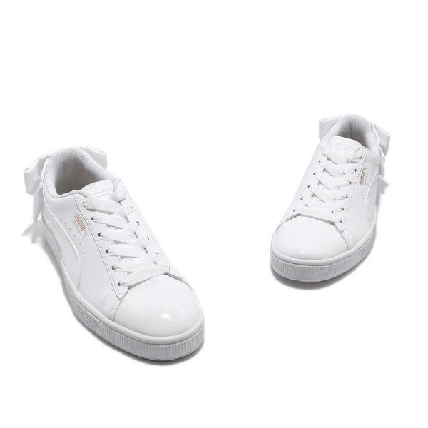 Puma 休閒鞋 Basket Bow SB Wns 全白 小白鞋 蝴蝶結 女鞋 【PUMP306】 36813002