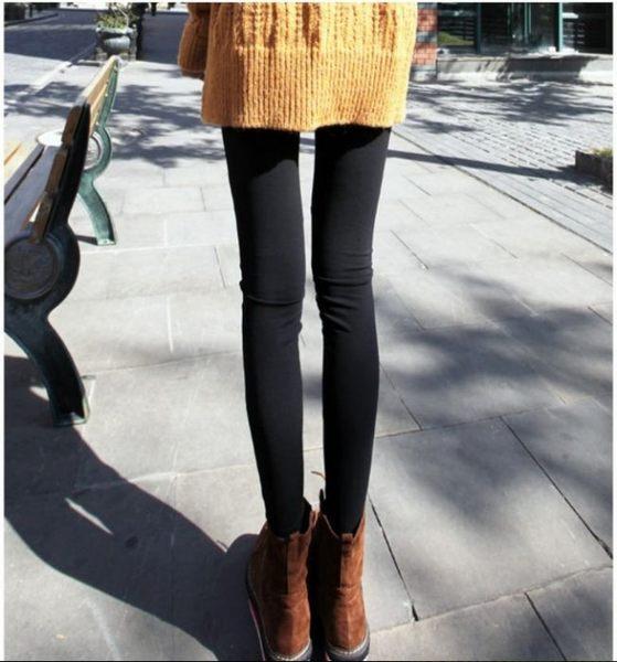來福九分褲,H575九分褲四季薄款顯瘦仿皮拼接打底長褲九分褲小腳褲,售價250元
