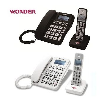 【旺德】WONDER 2.4G高頻數位無線電話WD-9102D(黑、白兩色可選) 《刷卡分期+免運費》