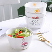 陶瓷創意卡通碗米飯沙拉水果碗方形日式家用微波爐小碗    伊芙莎