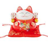 六福臨門 4.5吋 招財貓 紅色