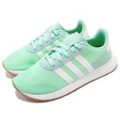 【五折特賣】adidas 休閒慢跑鞋 FLB_Runner W 綠 粉綠 白 膠底 女鞋 Flashback 運動鞋【PUMP306】 DB2122
