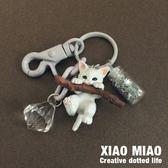 小貓鑰匙扣女貓咪公仔韓國可愛創意汽車鑰匙錬包包掛飾 黛尼時尚精品