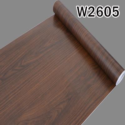 W2605 仿木紋PVC自黏式 壁貼 壁紙 地板/家具/櫥櫃/ 地板貼紙 防水材質 (1捲=45x1000公分)