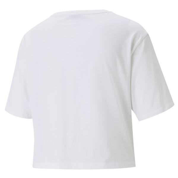 Puma 白色 女裝 短袖 短版 運動上衣 短T 排汗 透氣 棉質 運動 上衣 短版上衣 58723202
