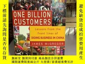 二手書博民逛書店ONE罕見BILLION CUSTOMERS Lessons from the front lines of D