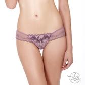 LADY 巴黎玫瑰系列 低腰丁字內褲(浪漫紫)