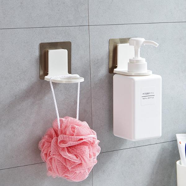 現貨 免打孔 不鏽鋼 透明 浴室 沐浴乳 洗髮精 廚房洗碗精 掛架 掛鉤 瓶口架 瓶掛架 置物架 掛勾
