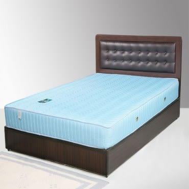 【Homelike】艾凡3.5尺床組+獨立筒床墊-單人(二色任選)胡桃木紋