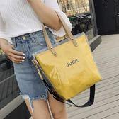 購物包 少女單肩斜挎百搭chic透明包果凍包手提包【美物居家館】