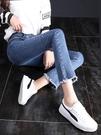 喇叭褲 微喇叭褲女高腰春秋2021年新款夏季薄款顯瘦八分小個子九分牛仔褲 晶彩