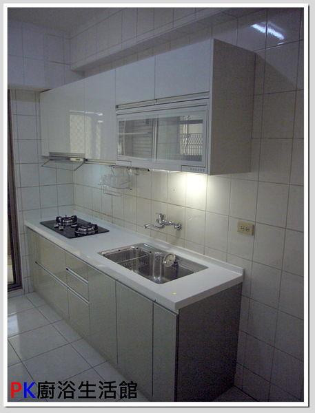 ❤PK廚浴生活館 實體店面❤ 高雄 廚房歐化系統櫥具 240公分一字型上下櫥流理台 水晶門板 LG台面