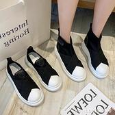樂福鞋 樂福鞋女新款貝殼頭懶人鞋一腳蹬厚底休閒鞋英倫風透氣單鞋女 瑪麗蘇