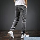 男牛仔褲 秋季牛仔褲男士夏天薄款寬鬆直筒工裝束腳休閒修身小腳長褲子 雙十一爆款
