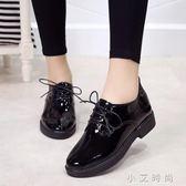 黑色ins小皮鞋女學生韓版原宿百搭英倫復古單鞋 小艾時尚