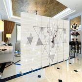 (中秋特惠)新品定制歐式隔斷墻折疊客廳簡約現代折屏臥室辦公室移動玄關屏風 xw