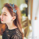 手工縫制  浪漫蝴蝶細發箍超仙日韓可愛淑女頭箍發卡頭飾     時尚教主
