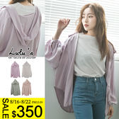 LULUS-C縮袖軟料連帽襯衫-4色  現+預【01032125】