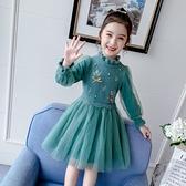 女童毛衣洋裝秋裝2020新款兒童冬裝加絨秋冬季洋氣公主裙子冬裙 怦然新品