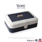 熱賣飾品收納盒 sofis首飾盒首飾收納盒首飾盒收納盒皮革手飾品盒簡約原創女孩 coco