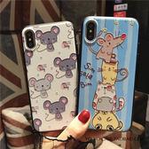 iphone X 手機殼 卡通 可愛 小老鼠 保護套 全包 3D 立體 浮雕 彩繪 保護殼 防摔 情侶款 軟邊 硬殼