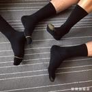 【4雙】金線條男士正裝商務紳士男襪黑襪吸...