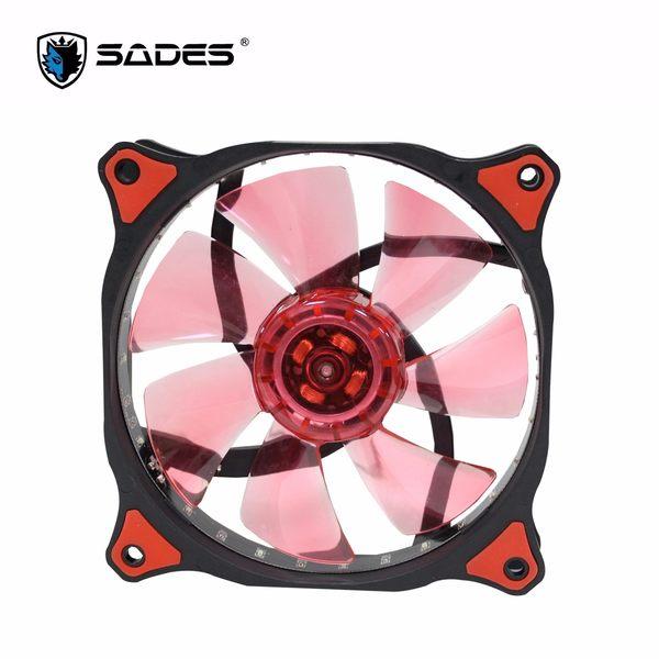 【台中平價鋪】全新 SADES 賽德斯聖甲蟲魔扇 TUBRO 12公分 LED 機殼散熱風扇 紅光