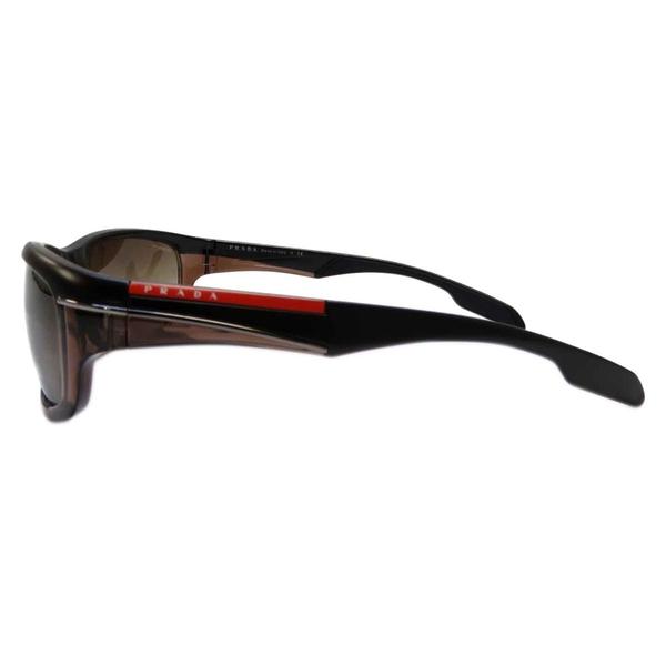 PRADA 普拉達 咖啡色粗框太陽眼鏡 【BRAND OFF】